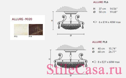 Потолочный светильник Allure PL, фабрика Masiero
