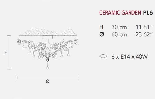 Потолочный светильник Ceramic Garden, фабрика Masiero