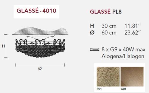 Потолочный светильник Glasse, фабрика Masiero