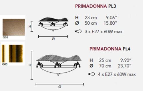 Потолочный светильник Primadonna, фабрика Masiero