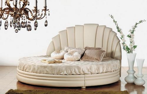Круглая кровать Miro, фабрика Pigoli Salotti