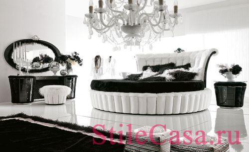 Круглая кровать Tiffany, фабрика Alta Moda