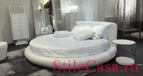 Круглая кровать Apollo, фабрика Rugiano