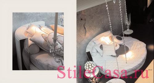 Круглая кровать Venus, фабрика Rugiano