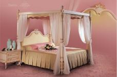 Кровать с балдахином Brahms, фабрика Angelo Cappellini