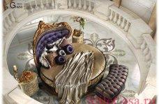 Круглая кровать Grazia, фабрика Caspani Tino